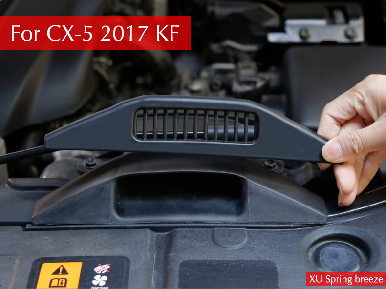 Car Styling Engine Air Inlet Vent Protective Cover Sticker Protection For Mazda CX-5 CX5 2017 2018 KF