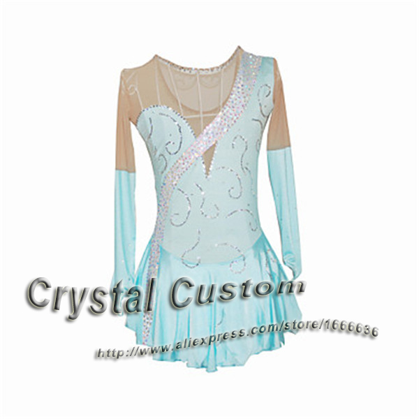 Hot Sales Custom Figure Skating Dresses For Women Elegant New Brand Vogue Ice Skating Dresses For Competition DR2893