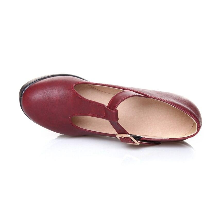 Talons 34 Mariage Grande Haut blue 9 46 Taille De red Épais Cm Chaussures Femmes Pompes Pointu Printemps 933 Black Bruts Bas Bout Blxqpyt Automne 2 zEgvavn
