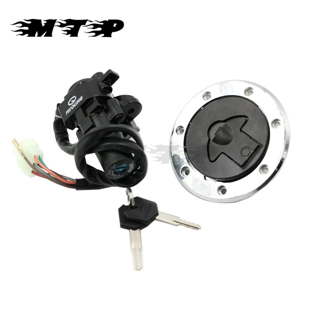 Motorcycle Ignition Switch Lock Fuel Gas Cap Key For Kawasaki ZX-9R ZZR400 600