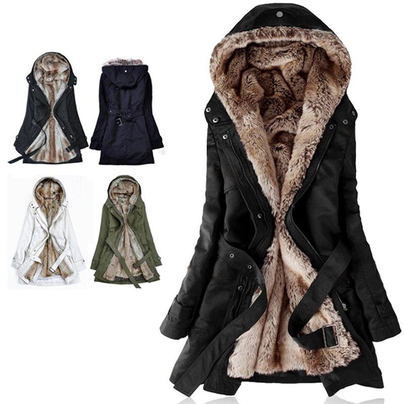 Women Winter Jacket 2019 Casual Ladies Basic Coat button fur jacket Warm Long Sleeve women parka Plush Overcoat Casual Outerwear in Jackets from Women 39 s Clothing