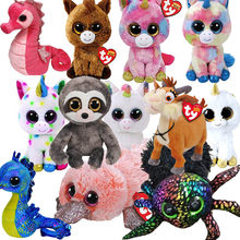 15CM Hot Sale Ty Beanie Boos Big Eyes Unicorn Ghost Plush Toy Doll Stuffed Animal Cute Plush Kids Toy juguetes(China)