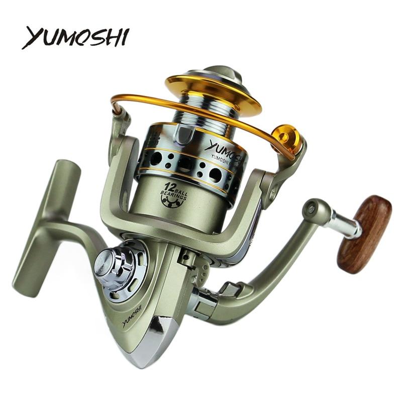 Ruedas de Yumoshi carrete de pesca 5,5: 1 12BB LC 7000-1000 series Tipo de rueda giratoria señuelo de pesca de mar