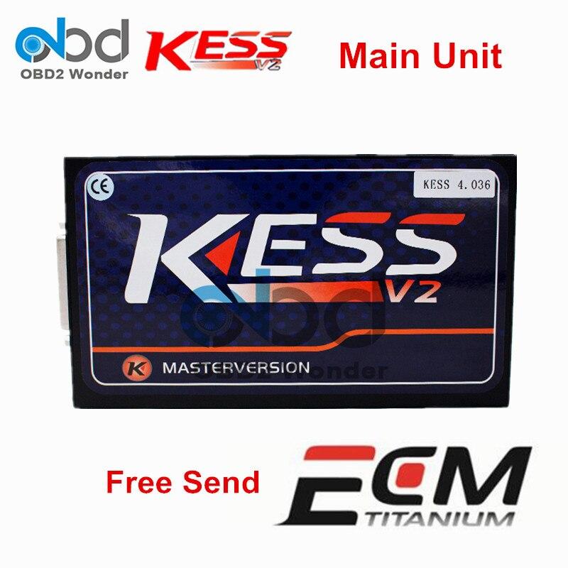 Prix pour Nouvellement KESS V2.32 ECU Chip Tuning KESS V2 Unité Principale Maître aucun Jeton Limitée Version KESS FM V4.036 ECU Programmeur Livraison Gratuite