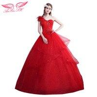 Anxin SH белый цветок торжественное платье цветок кружева торжественное платье красное платье принцессы с цветочным рисунком торжественное п...