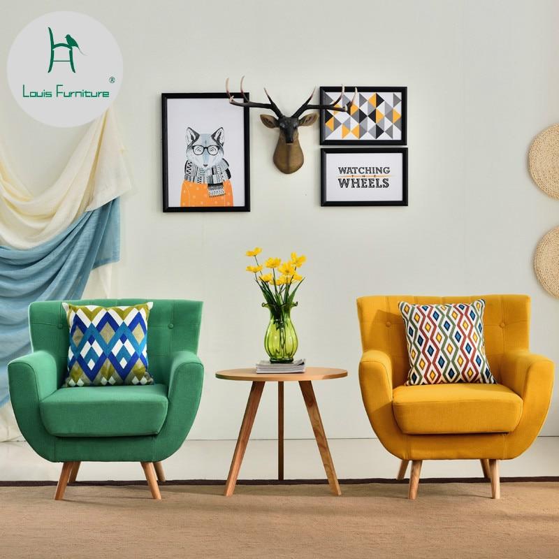 Living Room Furniture St Louis: Louis Fashion Living Room Sofas Nordic Single Chair Modern