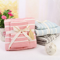 Free Shipping Light Fashionable Striped Cotton Towel Beach Towels Bulk Bath Towels 70 140cm