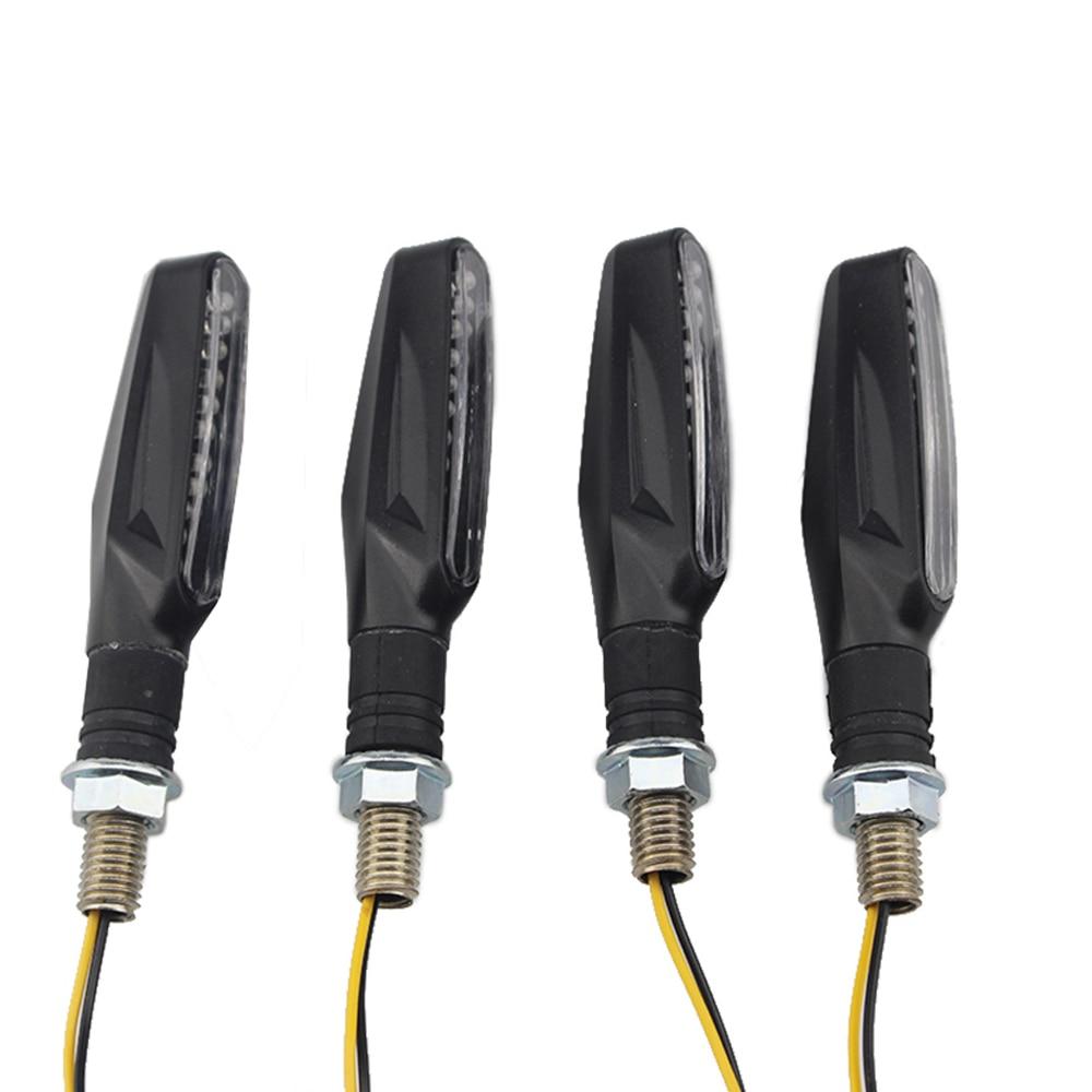 Univerzalna svetilka utripajoče svetilke za motorna kolesa LED črna - Rezervni deli in dodatki za motorna kolesa