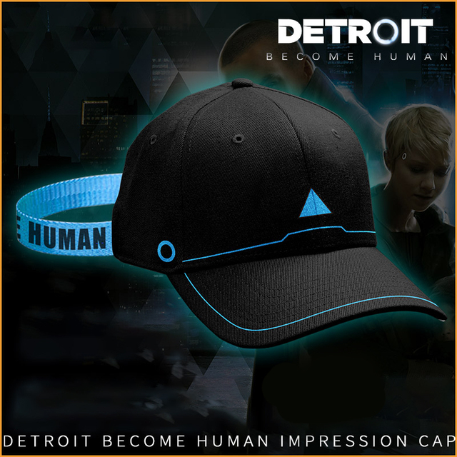3d841b6dceb1dc 2018 New Game Detroit Become Human Connor Topee Cosplay Hip Hop Unisex Sun Baseball  Caps Adjustable Peaked Hat Fitted Snapback