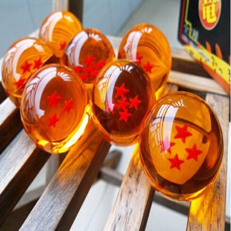 Dragon Ball Z Set 7 Stars Crystal Balls Action Anime Gift DragonBall Collectable