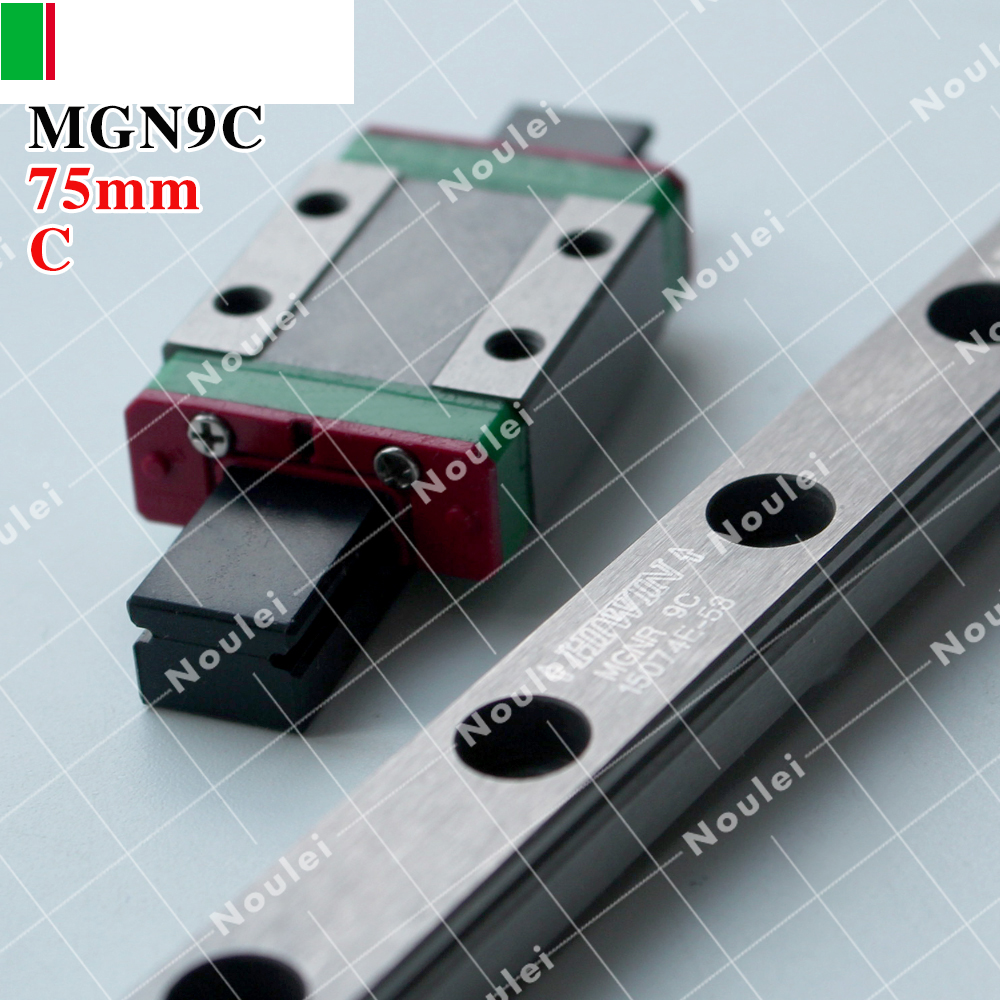 HIWIN MGN9 75mm linear guide rail with MGN9C slide blocks stainless steel MGN9mm kossel mini tbi cnc sets tbimotion tr20n 1000mm linear guide rail with trh20fl slide blocks stainless steel high efficiency