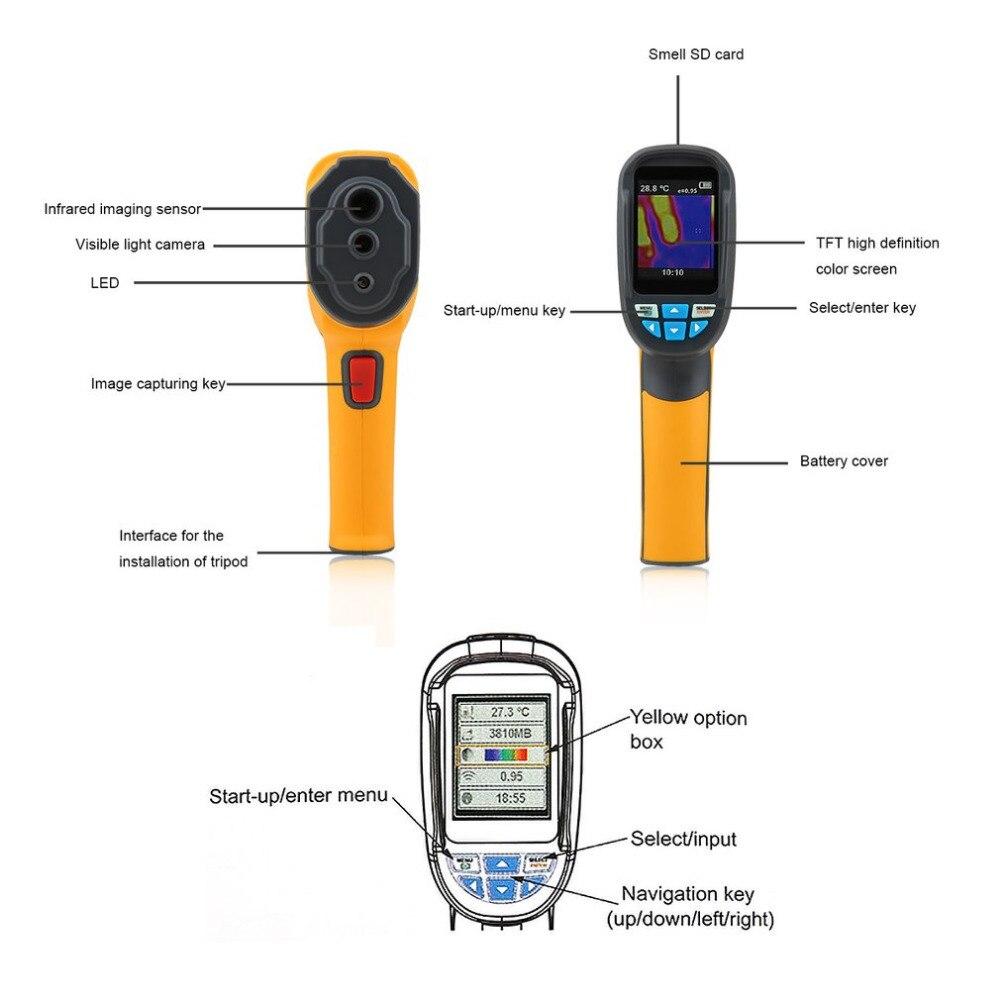 """Portátil Cámara de imagen térmica SD Termómetro infrarrojo Imager 1024p 2.4 /"""""""