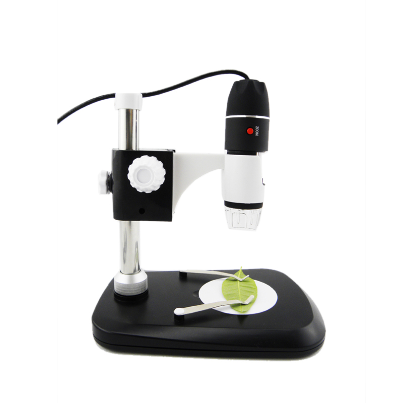 Portable Mega Pixels 50X to 1000X 2MP USB 8 LED Digital Industrial Microscope Endoscope Camera Magnifier+Stand+Calibration Ruler