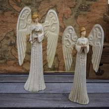 Fashion 30*15cm resin Roman Catholic Angel female mannequin body Christian Gift Ornaments Fun home decoration Process 1pc A396
