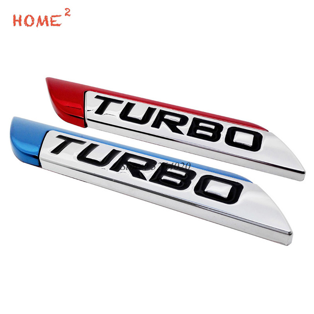 Car Styling For Turbo Logo Fender Trunk Badge Emblem Decals Auto