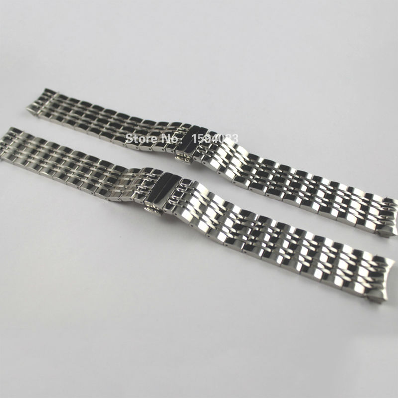 19mm T085410A T085407A New Watch Parts Male Solid Stainless steel bracelet strap WatchBands For T085