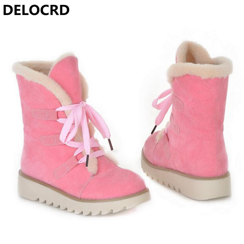 Women's Snow Boots Thick Wool Warm With Cotton Shoes Plus Size Women's Boots Ladies Fashion Casual Shoes winter Casual Sneaker 72