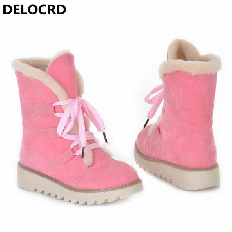 5a394da5b Women's Snow Boots Thick Wool Warm With Cotton Shoes Plus Size Women's  Boots Ladies Fashion Casual Shoes winter Casual Sneaker