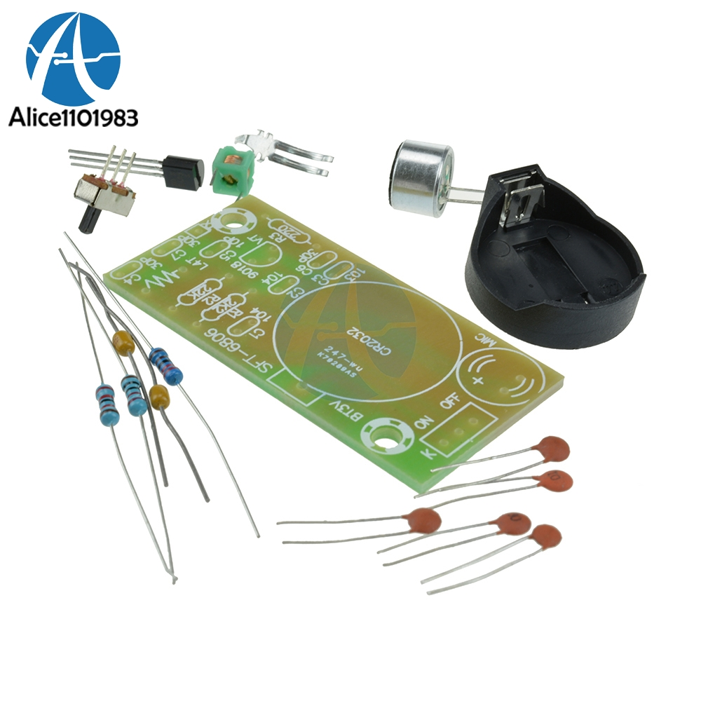 FM Frequency Modulation Wireless Microphone Module FM Transmitter Board Parts Simple Elect