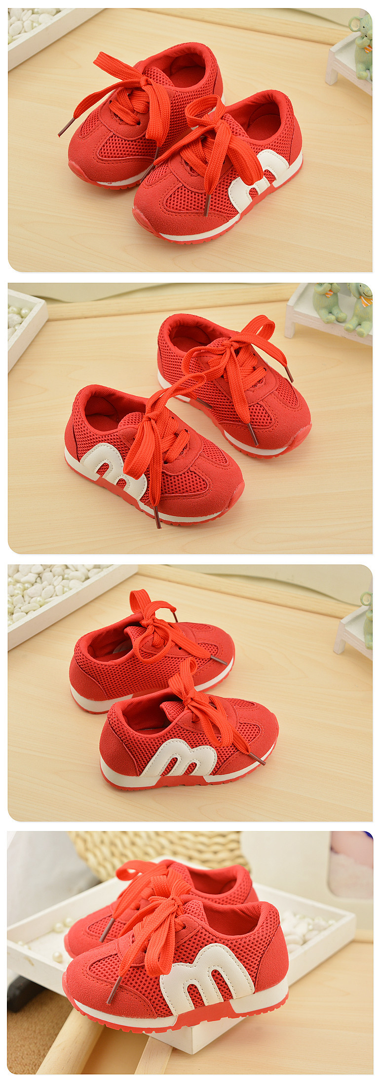 19 New Brand Spring Comfortable Sneakers Boy Girl Children's Sports Casual Shoes Breathable Mesh Baby Kids Soft Bottom Shoes 3