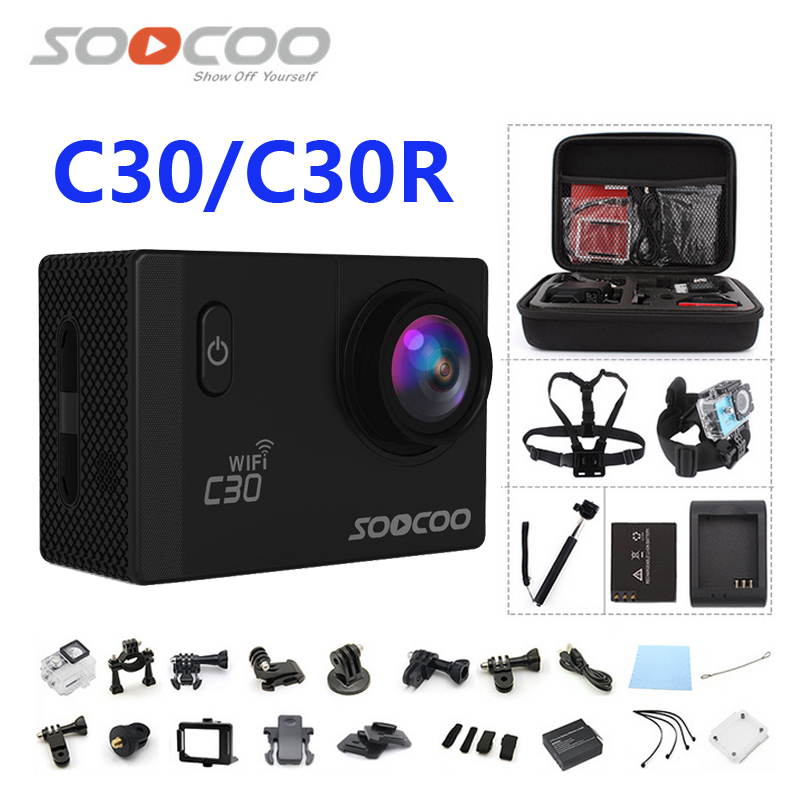 Action camera deportiva Original SOOCOO C30 / C30R remote HD 4K WiFi 1080P 60fps 2.0 LCD 170D sport go waterproof pro camera soocoo 360h wifi 360 degree panorama vr 4k camera 1080p 60fps full hd lcd screen mini sport action camera with remote controller