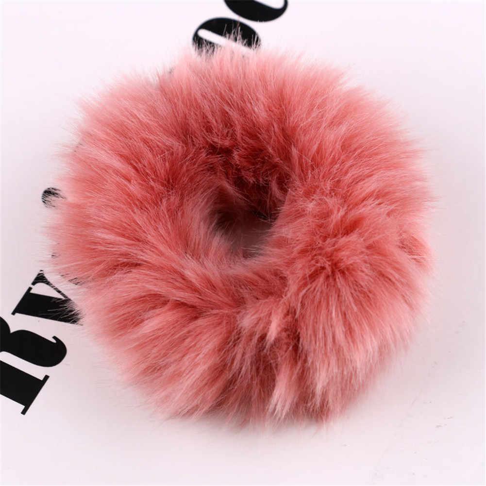 Мягкий пушистый искусственный мех, пушистый благородный, новинка 2019, шикарные резинки, эластичное кольцо для волос, веревка, аксессуары, эластичные розовые резинки для волос