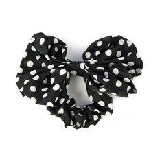 MYTL Girls Rabbit Ear Bow Ribbon Chiffon Headband Hair Band (Black)