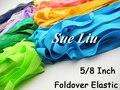 10 ярдов 5/8 Дюйма (1.5 мм) Foldover FOE Упругой для Повязки --- Один цвет в одной партии