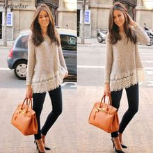 New Women Blusas Femininos Embroidery Lace Crochet Hollow Out Tee Shirts Slim Fashion Casual Tops white lace blouse long sleeve цена 2017