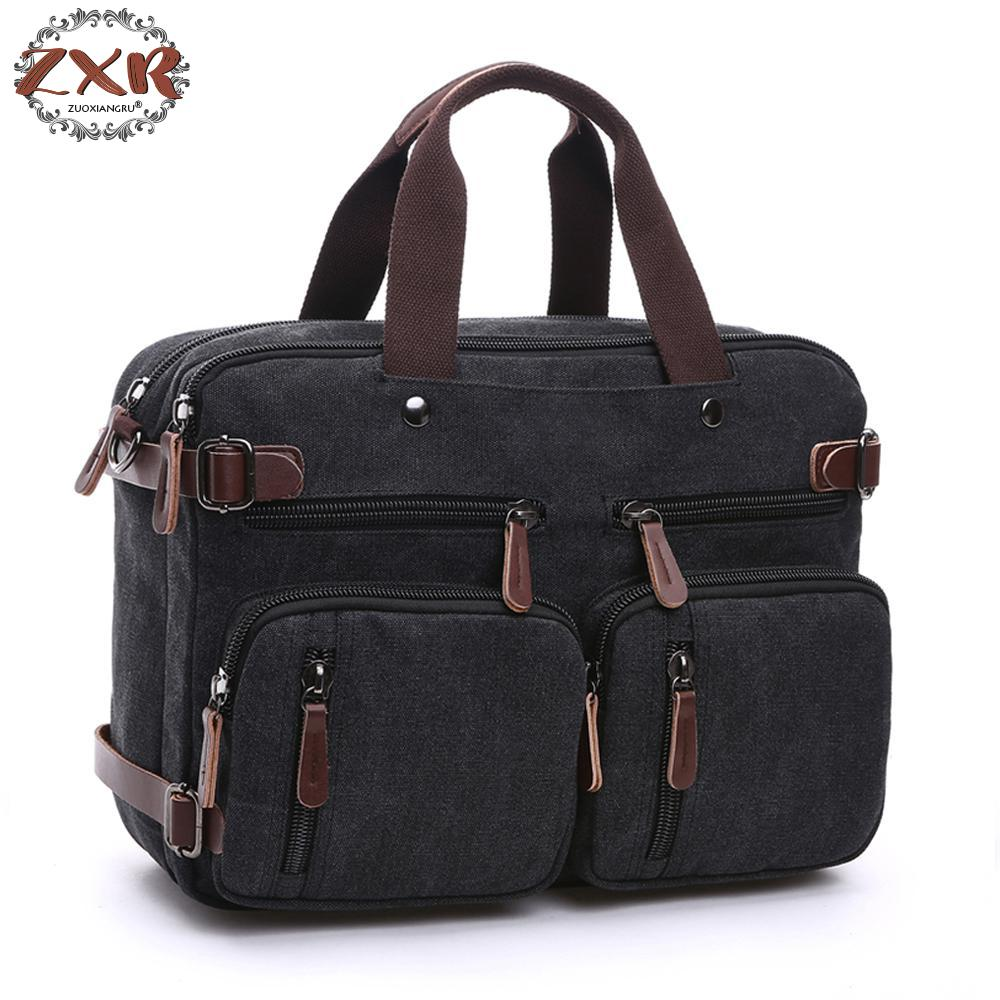 Canvas Leather Men Travel Bags Hand Luggage Bags Men Duffel Bags Travel Tote Hide The Shoulder