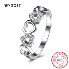 Brand Women Fashion Ring 100% S925 Sterling Silver Love Hearts Wedding Engagement Rings Luxury Original Fine S925 Jewelry Gifts