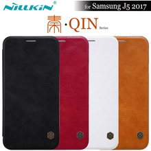 NILKIN for Samsung J5 2017 Case Nillkin Qin Luxury Flip Leather Phone Back Cover for Samsung Galaxy J5 2017 Dual Sim J530F Case