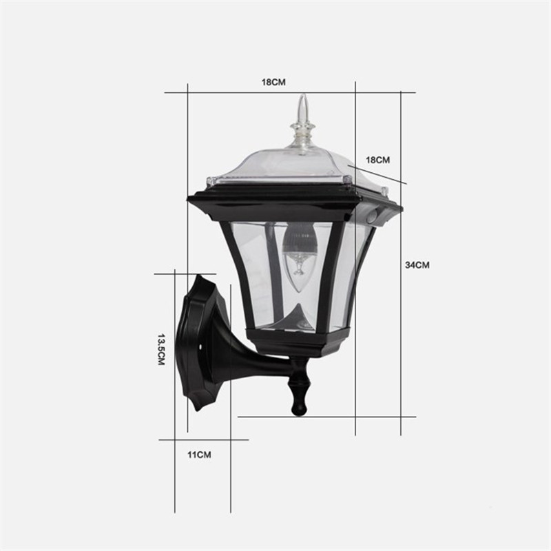 Simple Garden LED Solar Powered Wall Porch Light Motion Sensor Lamp Outdoor Waterproof Body Induction Wireless Garland Decor outdoor led garden light security 90 led solar light pir motion sensor solar powered emergency wall lamp waterproof ip65