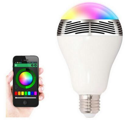Wireless 6W Power Bluetooth LED Speaker light Bulb 4.0 Smart lamp RGB Lighting with cellphone controlled Bulb for Smartphones