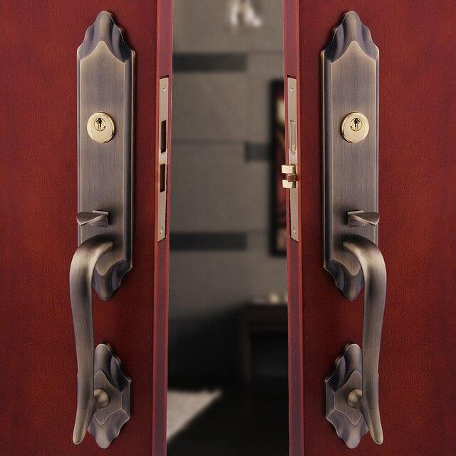 European bronze villa door lock into the hoeholds of for 1 2 lock the door