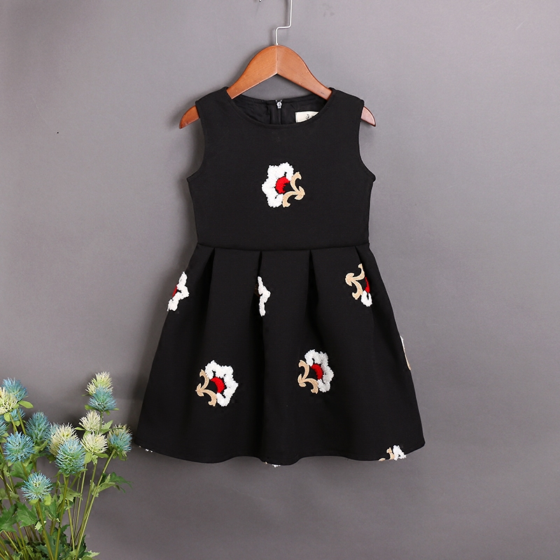 Brand Family Matching outfits children Clothes mom kids girl embroidery sleeveless vest dress Mother and Daughter party Dresses family clothing spring matching clothes mother daughter long sleeve dresses and vest two piece set matching mom daughter dress