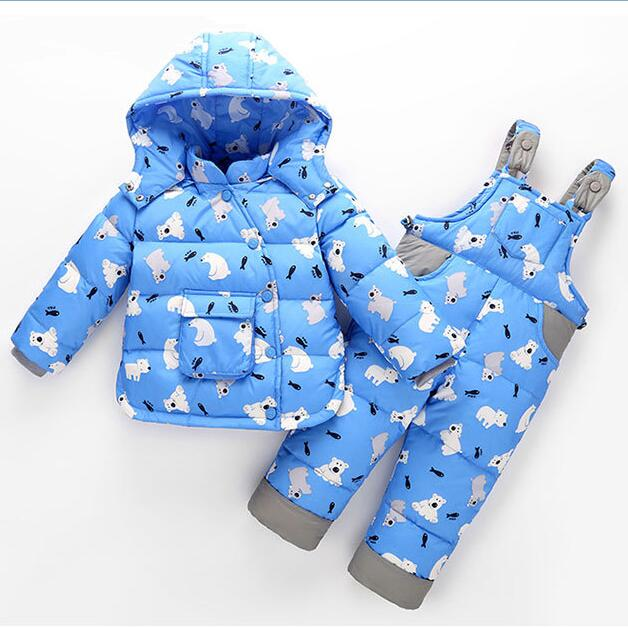 Warm Heavyweight Children Outfits Baby Girls Boys Clothes Set Winter Kids Clothing Sets Children Outerwear For 2-4 Years Old toddler boys velvet suit baby girl kids winter clothes fashion warm children clothing set autumn 2018 outerwear girls outfits
