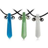 1 Pcs Mode Blau Naruto Tsunade Uzumaki Halskette Anhänger Halskette Anime Cosplay Für Frauen Männer Schmuck Drop Schiff Kragen Kette