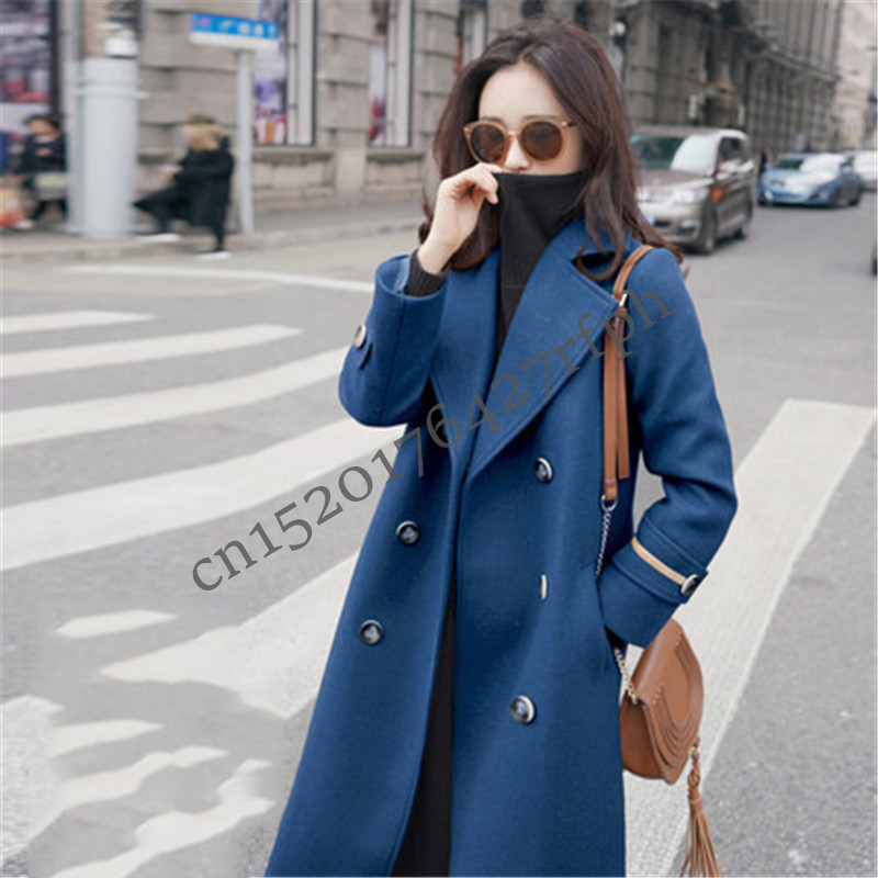 4f8c1956afac9 Brand Woolen Coat Women 2019 Office Lady Winter Coat Long Fashion loose  plus size Double Breasted casual Jackets outerwear A212-in Wool   Blends  from ...