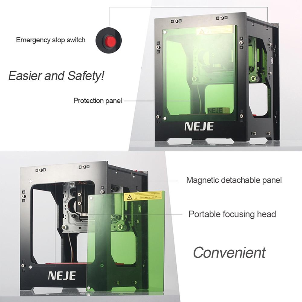 ❤️ NEJE DK-8-KZ 1000/2000/3000mW Professional DIY Desktop Mini CNC Laser  Engraver Cutter