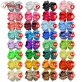 1pcs 32 Colors Baby Girl Ribbon Bows Clips Hairpin Girl's hairbows Boutique Hair Clip Headware Kids Hair Accessories