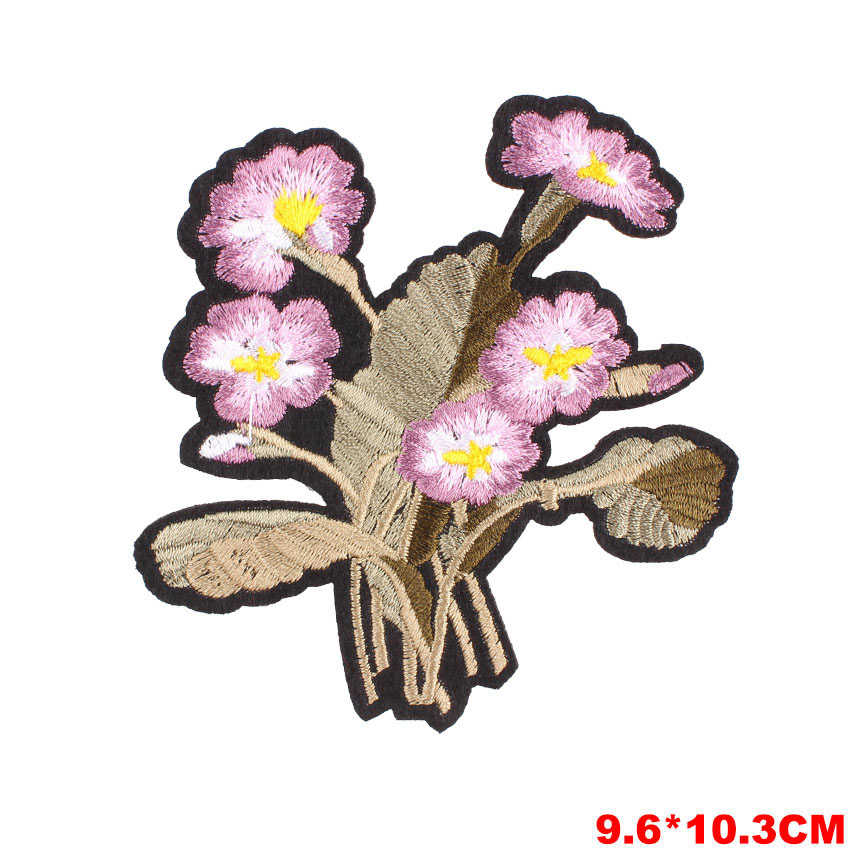 Kleurrijke Bloemen Patch Sticker Iron Op Kleding Diy Warmteoverdracht Applique Geborduurde Toepassingen Doek Stof Patches Kleding