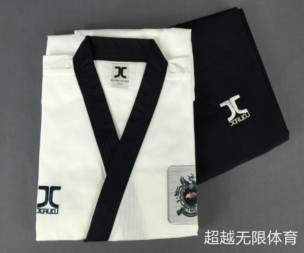 JCALICU Male Taekwondo Poomsae clothes TKD materials J-Calicu taekwondo dobok for have Dan persons Adults karate WTF standards шапка dan