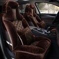 New 3D Tampa de Assento Do Carro Do Inverno Almofada de Pelúcia Acessórios Do Carro, Estilo Do Carro Almofada Do Assento Cobre, Esteiras de Assento quente, Condução segura Sedan