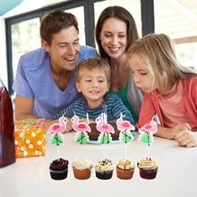 5pcs Cartoon Unicorn/Flamingo Candles Birthday party,baby shower,kids party Cake candles Unicorn party DIY cake decorations