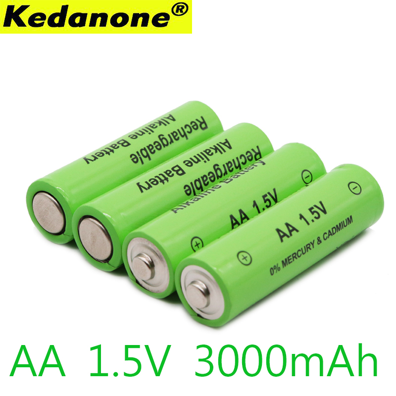 2~10pcs/lot New Brand AA Rechargeable Battery 3000mah 1.5V New Alkaline Rechargeable Batery For Led Light Toy Mp3 Free Shipping