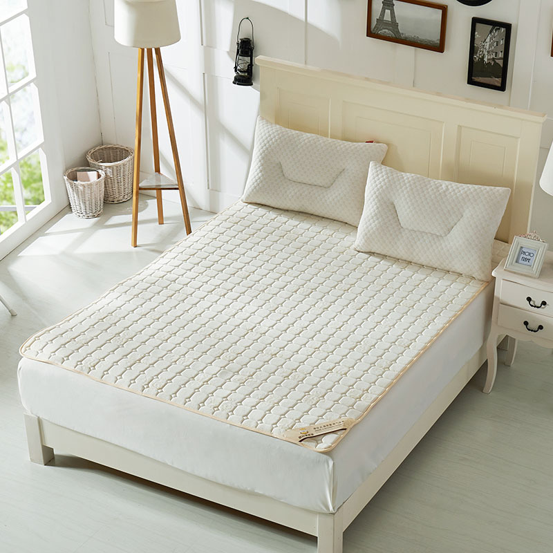 New Style Fashion Plaid White Folding Mattress Single Or Double Guesthouse Hotels Mattress