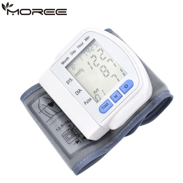 Monitor de presión arterial digital de muñeca de fácil funcionamiento Sphygmomanometer monitor de presión arterial