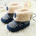 Новый Baby Boy Prewalker Мягкие Ботинки Снега Искусственного Меха Кружева Малыша Ботинки Обувь X16