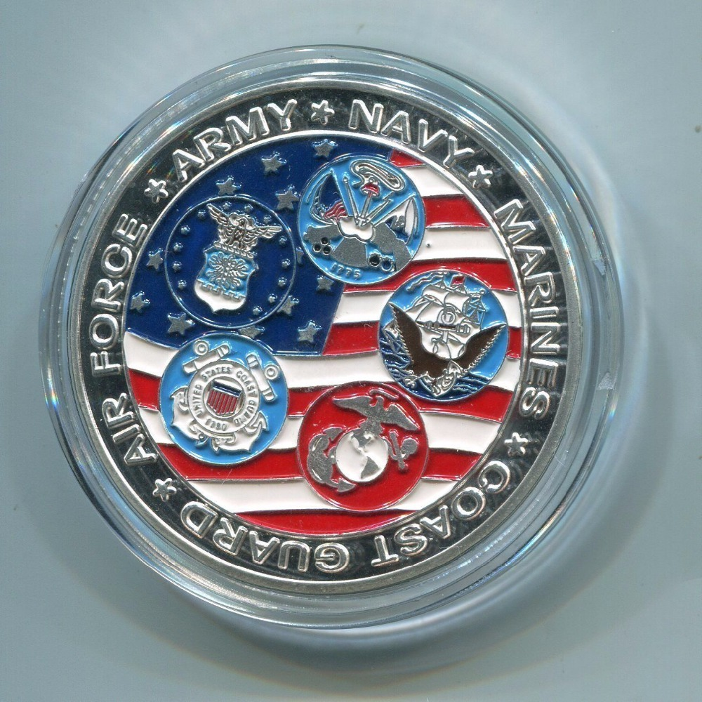Free Shipping 100pcs lot US Special Operations Command Airborne Commemorative Challenge Coin in Non currency Coins from Home Garden